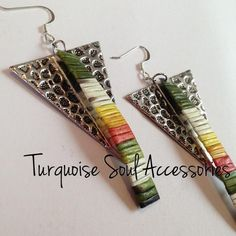 Turquoise Soul (Diné) quillwork earrings, on FB