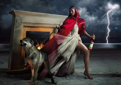 Calendar: Campari / Year: 2008 / Celebrity: Eva Mendes / Photographer: Marino Parisotto / Tale: Little Red Riding Hood Wolf Goddess, Perfect Day, She Wolf, Big Bad Wolf, Eva Mendes, Red Hood, Red Riding Hood, Little Red, Pagan
