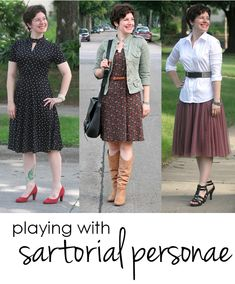 How to experiment with sartorial personae - different looks within your personal style