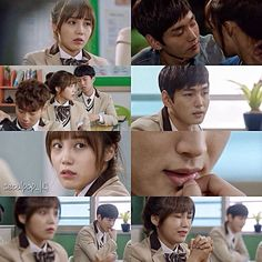 "Cheer Up! ""Sassy, Go Go"" (2015) ♥ Episode 5 ♥ The one time he isn't staring at her. Am I right?"