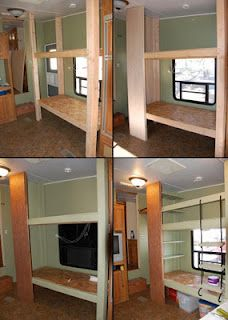Camper Remodel With Bunk Beds Camper Ideas Remodeled