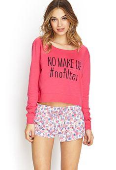 No Makeup No Filter PJ Top #Pajamas