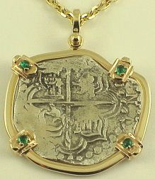atocha coin with fanct emerald bezel! We will have something that will be a great gift to your loved one!