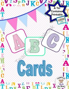 FREE ABC cards (A Tin Printable) from Creations by Mrs Mouse on TeachersNotebook.com -  (9 pages)