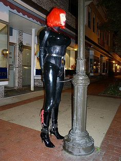 public fun, enclosed in latex Human Doll, Latex Hood, Female Mask, Rubber Doll, Heavy Rubber, Sissy Maid, Living Dolls, Wet Look, Crossdressers