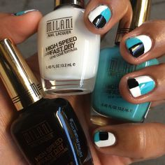 Milani High Speed Fast Dry Aqua Brisk, Black Swift and White On The Spot