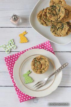 Könnyed, szellős vegán omlett muffin fokhagymás spenóttal, aszalt paradicsommal: előre elkészíthető, nem csak Húsvét reggelire!
