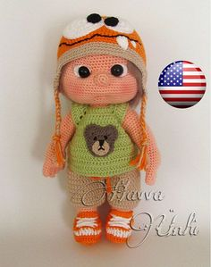English Pattern  Tommy With Monster Hat and door HavvaDesigns