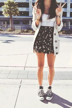 Dress with Converse.