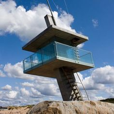 Could be a Lifeguard Tower or Beach House