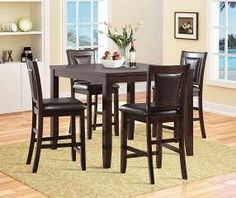 Accent your kitchen space or dining room with this Harlow pub set offering smooth transitional styling and great detailing sure to dress up any room.