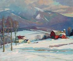 View Mount Mansfield, Vermont by Aldro Thompson Hibbard on artnet. Browse more artworks Aldro Thompson Hibbard from Pierce Galleries, Inc. Painting Snow, Winter Painting, Winter Art, Painting Prints, Art Prints, Winter Trees, Watercolor Landscape, Landscape Art, Landscape Paintings