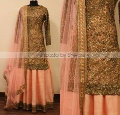 Absolutely loving everything about this heavy/light combination by Intricado by Shivani. The top is so versatile and can be paired with a salwar, pajami or lehna as seen here. Mehendi Outfits, Pakistani Outfits, Bridal Outfits, Indian Outfits, Patiala Suit, Punjabi Suits, Salwar Suits, Choli Designs, Lehenga Designs