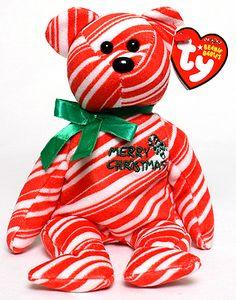 2007 Holiday Teddy (red) - bear - Ty Beanie Babies