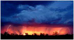 Summer electrical storm, outback Australia, photograph by Excitations, Mildura photographers, Australia.