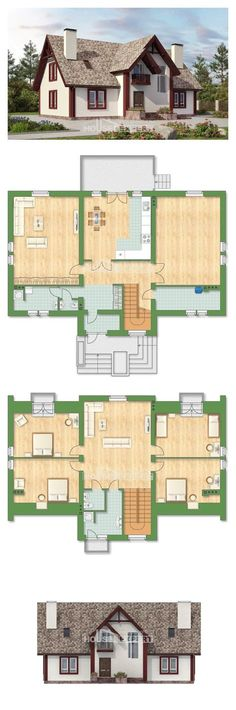 39 Ideas for house layout design floor plans New Home Designs, Home Design Plans, Plan Design, Cool House Designs, House Layout Design, House Layouts, Best Home Plans, Modern House Plans, Facade House