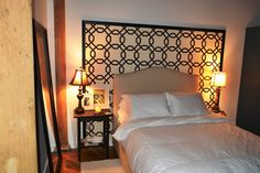 A tutorial for framing cool wallpaper as an alternative to a headboard.  I love this!