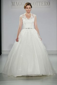 Maggie Sottero Spring 2013 - ballgowns are great for balancing a fuller bust and hips!
