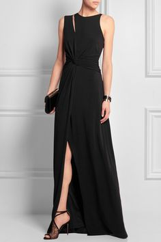 Halston Heritage - Cutout stretch-jersey gown f4994c9f14df