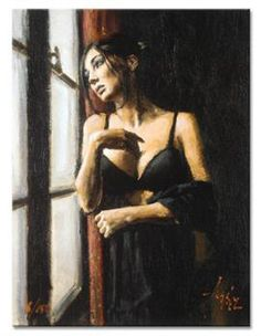 Artist Painter Fabian Perez Painting At The Window Art History Periods, Romain Gary, Local Art Galleries, Impressionist Paintings, Window Art, Illustrations, Art Auction, Paintings For Sale, Love Art