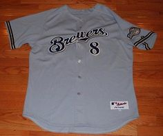 Ryan Braun Milwaukee Brewers Authentic Road Jersey-Majestic Size 52