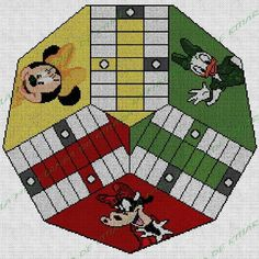 Minnie Mouse, Kids Rugs, Home Decor, Home Made Games, Embroidery Sampler, Colour Chart, Board Games, Note Cards, Girlfriends