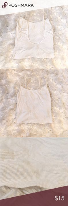 American Apparel Low Back Tank Low back tank from American Apparel made from super soft ribbed rayon. This was originally a bodysuit and the bottom was cut off. American Apparel Tops Tank Tops