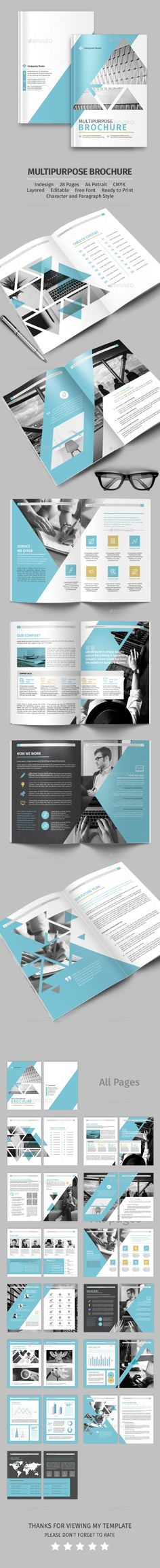 Multipurpose Brochure Design - Corporate Brochure Template InDesign INDD. Download here: http://graphicriver.net/item/multipurpose-brochure/16471163?s_rank=433&ref=yinkira