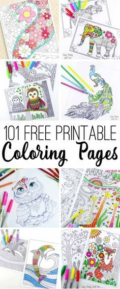 Gorgeous collection of free printable coloring pages - so many beautiful ones that I can't wait to work on!