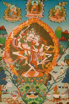Citipati, Lords of the Cemetery. Bardo Thödol. Tibetan Book of the Dead.