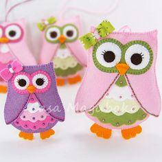 Felt Owl Pattern  Felt Owl Embellishment or by CasaMagubako, $6.45