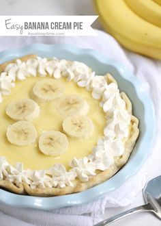 Easy banana cream pie recipe -this recipe has all the delicious flavors of good old-fashioned banana cream pie but it's literally done in minutes.