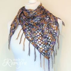 Ravelry: One Skein Lacy Infinity Neckerchief pattern by Ruth John