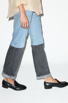 B Sides Jeans with Patches