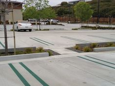 Curb Cut Parking Curb, Parking Lot, Car Parking, Water Management, Rain Garden, Parking Design, Green Park, Pavement, Site Design