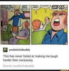 ah, good ol Archie comics Stupid Funny, Haha Funny, Funny Cute, Funny Stuff, Funny Things, Random Stuff, Top Funny, Archie Comics, Funny Comics