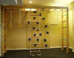 Indoor Playground Basement Diy kids christmas gift ideas basements, indoor jungle gym ...