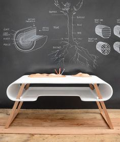 Modern Kid's Desk with Carved Wood Toy Car Track & Mountain Etiennes room, chalk board and cool desk! Modern Kids Desks, Modern Desk, Kitchen Modern, Kids Writing Desk, Kid Desk, Kids Furniture, Furniture Design, Princess Bedrooms, Childrens Desk