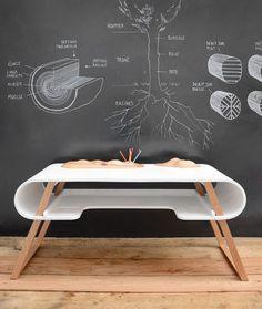 Rubens Kid's desk  Nautural beachwood white or black