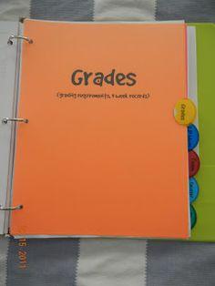 Beyond the grades...: Teacher Binder