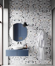 Beautiful Terrazzo tile for this sleek bathroom design. 😍😍 Design from 👌