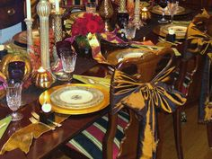 Topped With a Bow - 15 Stylish Thanksgiving Table Settings on HGTV