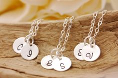 Bridesmaid Necklace Set of 2 to 10  initial necklace by MegusAttic, $62.70