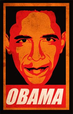 obama red poster Obama Art Collective