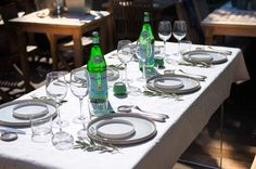 Sun and S.Pellegrino, who could ask for more! Thanks to Brussel's Kitchen for the table setting!