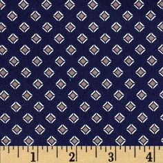 Morocco Blues Stretch Poplin Diamonds Navy/Taupe from @fabricdotcom  This very lightweight cotton poplin fabric has an ultra smooth hand and 10% stretch across the grain. It is perfect for shirts, dresses, skirts, blouses and more.