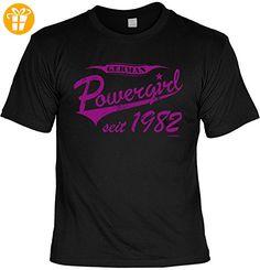 T-Shirt zum Geburtstag: German Powergirl seit 1982 - Tolle Geschenkidee - Baujahr 1982 - Farbe: schwarz (*Partner-Link)