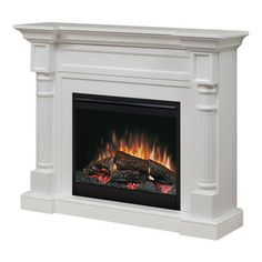 Dimplex Winston White Electric Fireplace Mantel Package