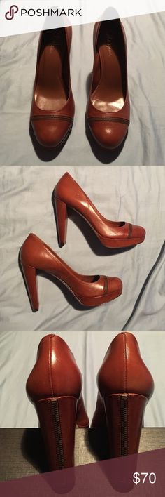 """Cole Haan Nike Air """"Stephanie"""" Pump size 9.5 Cole Haan """"Stephanie"""" Pump with Nike Air Technology for comfort. These cuties have zipper trim up the heels and across the vamp.  4-3/4 """" heel and 1""""  platform, Retails at $340 Cole Haan Shoes Heels"""