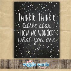 Twinkle Twinkle Gender Reveal Party Decor, Twinkle Twinkle Baby Shower Decor by WiggleWords